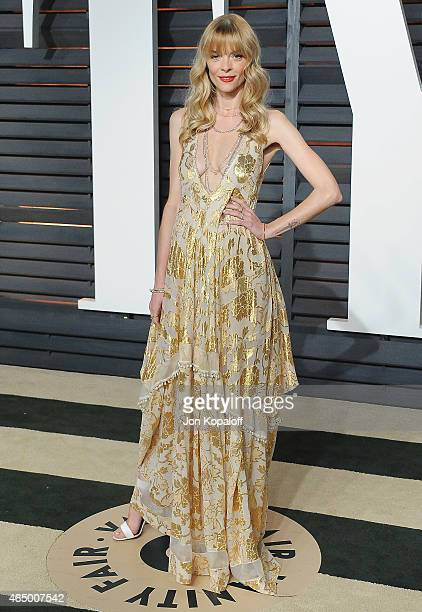 Actress Jaime King arrives at the 2015 Vanity Fair Oscar Party Hosted By Graydon Carter at Wallis Annenberg Center for the Performing Arts on...