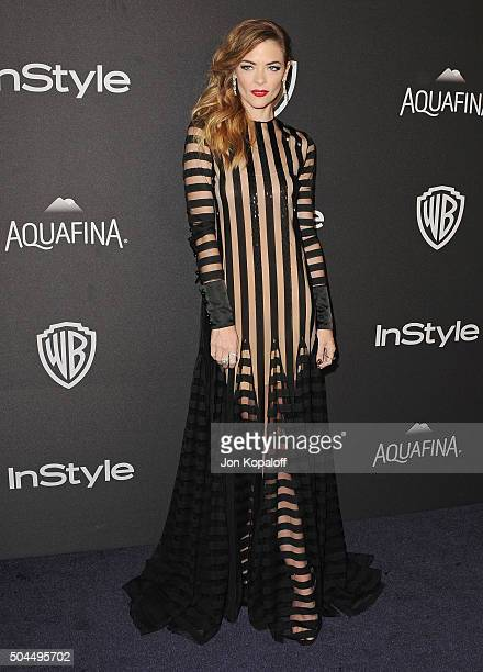 Actress Jaime King arrives at the 2016 InStyle And Warner Bros. 73rd Annual Golden Globe Awards Post-Party at The Beverly Hilton Hotel on January 10,...