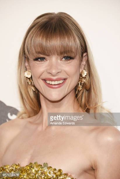 Actress Jaime King arrives at the 26th Annual Elton John AIDS Foundation's Academy Awards Viewing Party on March 4 2018 in West Hollywood California