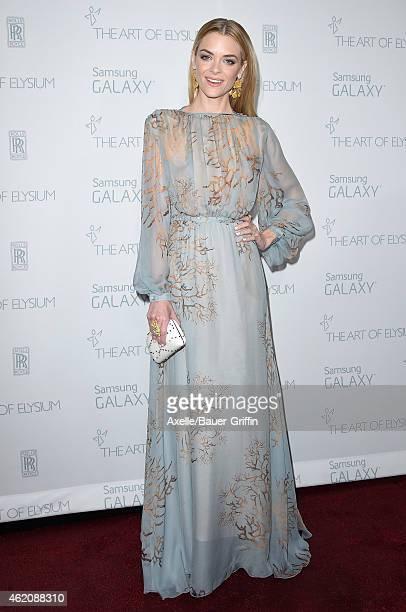 Actress Jaime King arrives at The Art Of Elysium 8th Annual Heaven Gala at Hangar 8 on January 10, 2015 in Santa Monica, California.