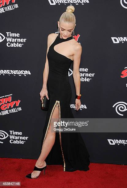 Actress Jaime King arrives at the Los Angeles premiere of Sin City A Dame To Kill For at TCL Chinese Theatre on August 19 2014 in Hollywood California