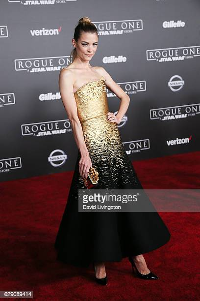 Actress Jaime King arrives at the premiere of Walt Disney Pictures and Lucasfilm's Rogue One A Star Wars Story at the Pantages Theatre on December 10...