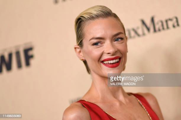 Actress Jaime King arrives for the 2019 Women in Film Annual Gala at the Beverly Hilton hotel in Beverly Hills, on June 12, 2019.