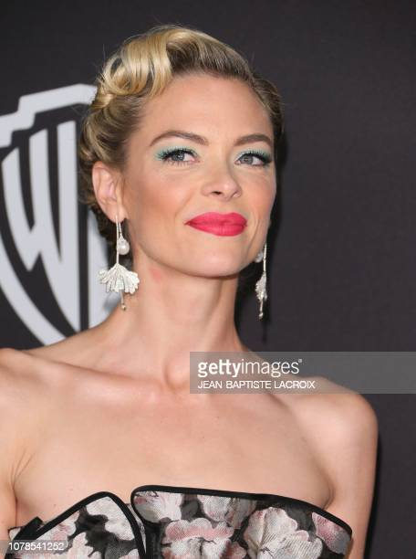 US actress Jaime King arrives for the Warner Bros and In Style 20th annual post Golden Globes party at the Oasis Courtyard of the Beverly Hilton...