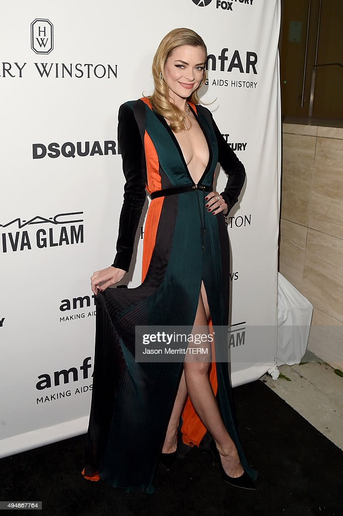 Actress Jaime King attends amfAR's Inspiration Gala Los Angeles at Milk Studios on October 29, 2015 in Hollywood, California.