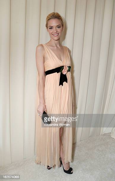 Actress Jaime King attends Grey Goose at 21st Annual Elton John AIDS Foundation Academy Awards Viewing Party at West Hollywood Park on February 24...