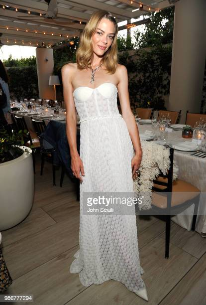 Actress Jaime King attends Haute Living's celebration of Lucy Hale's cover with Real is a Diamond at the Waldorf Astoria Beverly Hills on June 28...