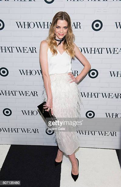 Actress Jaime King attends Target x Who What Wear launch party at ArtBeam on January 27 2016 in New York City