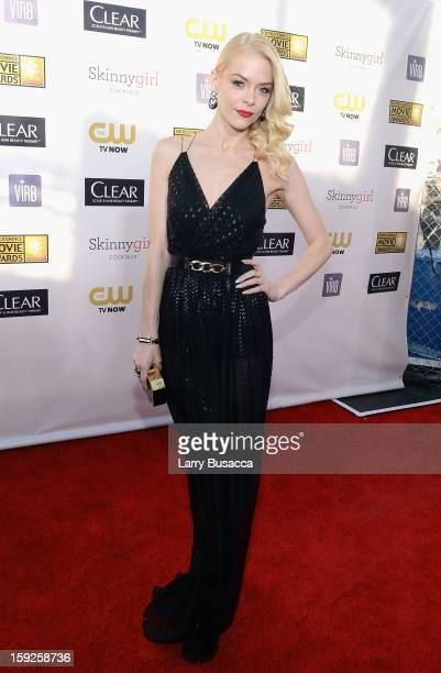 Actress Jaime King attends the 18th Annual Critics' Choice Movie Awards held at Barker Hangar on January 10 2013 in Santa Monica California