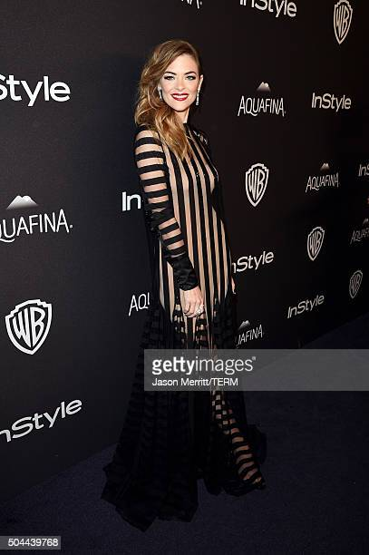 Actress Jaime King attends The 2016 InStyle And Warner Bros. 73rd Annual Golden Globe Awards Post-Party at The Beverly Hilton Hotel on January 10,...