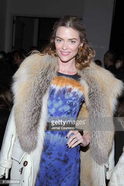 Actress Jaime King attends the Altuzarra Fall 2016 fashion show during New York Fashion Week at Spring Studios on February 13 2016 in New York City