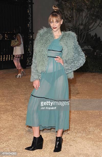 Actress Jaime King attends the Burberry London in Los Angeles event at Griffith Observatory on April 16 2015 in Los Angeles California