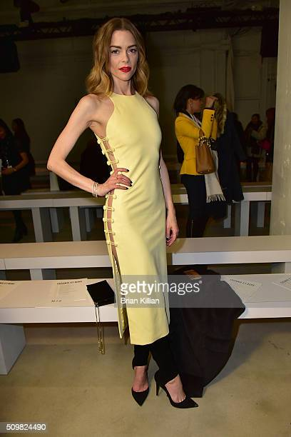 Actress Jaime King attends the Cushnie et Ochs show during Fall 2016 New York Fashion Week The Shows at Skylight at Clarkson Sq on February 12 2016...