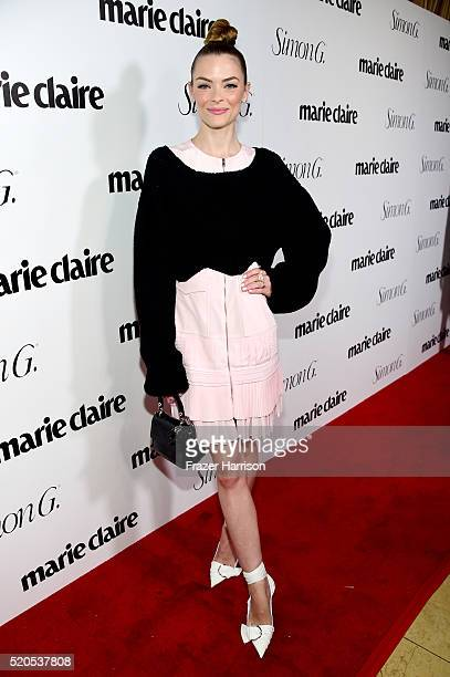 Actress Jaime King attends the 'Fresh Faces' party hosted by Marie Claire celebrating the May issue cover stars on April 11 2016 in Los Angeles...