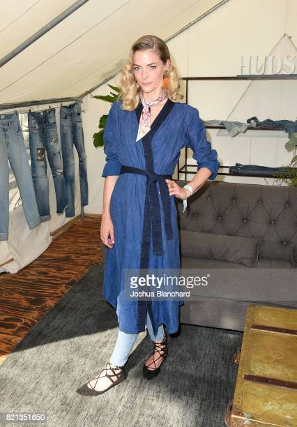 Actress Jaime King attends the Hudson Jeans FYF Fest Style Lounge at Exposition Park on July 23 2017 in Los Angeles California