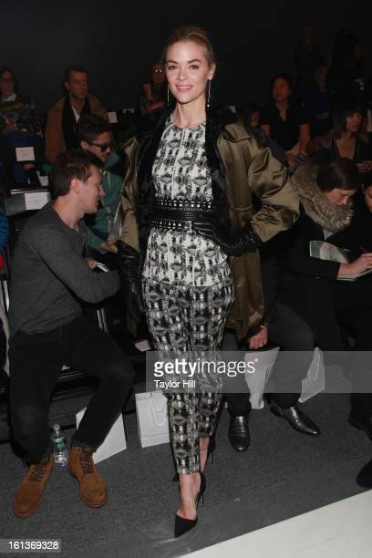 Actress Jaime King attends the Lela Rose Fall 2013 MercedesBenz Fashion Show at The Studio at Lincoln Center on February 10 2013 in New York City