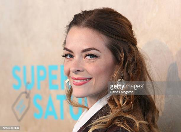 Actress Jaime King attends the Ovarian Cancer Research Fund Alliance's 3rd Annual Super Saturday Los Angeles at Barker Hangar on June 11, 2016 in...