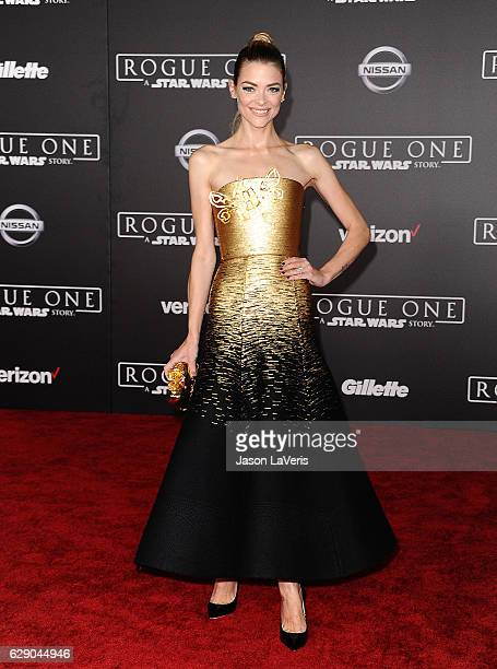 Actress Jaime King attends the premiere of Rogue One A Star Wars Story at the Pantages Theatre on December 10 2016 in Hollywood California