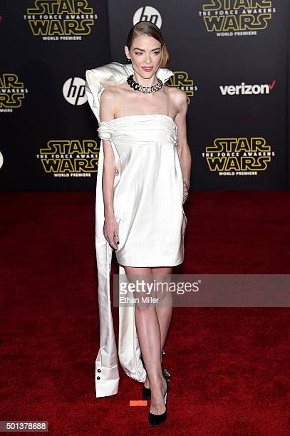 "Actress Jaime King attends the premiere of Walt Disney Pictures and Lucasfilm's ""Star Wars: The Force Awakens"" at the Dolby Theatre on December 14th,..."