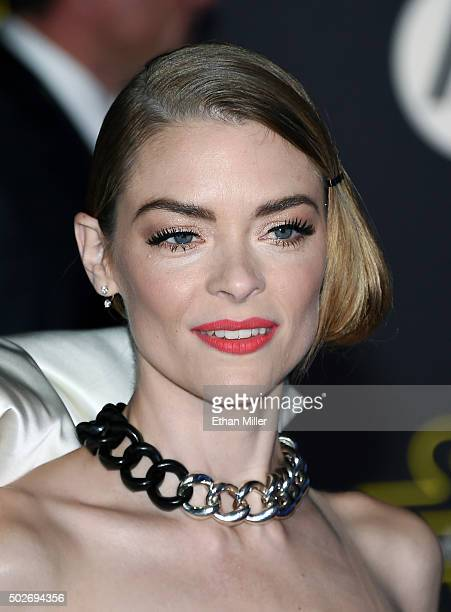"Actress Jaime King attends the premiere of Walt Disney Pictures and Lucasfilm's ""Star Wars: The Force Awakens"" at the Dolby Theatre on December 14,..."