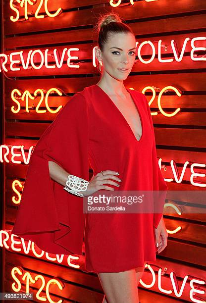 Actress Jaime King attends the REVOLVE fashion show benefiting Stand Up To Cancer on October 22 2015 in Los Angeles California
