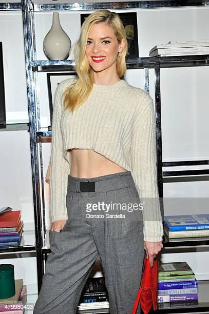 Actress Jaime King attends the Sandro Paris celebration at Chateau Marmont with a special performance by Polica at Chateau Marmont on March 20 2014...