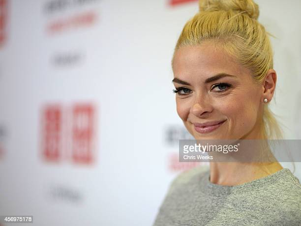Actress Jaime King attends UNIQLO's arrival in Los Angeles at The Beverly Center on October 9 2014 in Los Angeles California