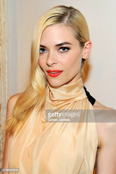Actress Jaime King celebrates the launch of Hunters Alley at The Unique Space on March 13 2014 in Los Angeles California