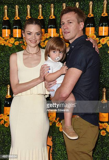 Actress Jaime King her son James Knight Newman and husband Kyle Newman arrive at the SixthAnnual Veuve Clicquot Polo Classic Los Angeles at Will...