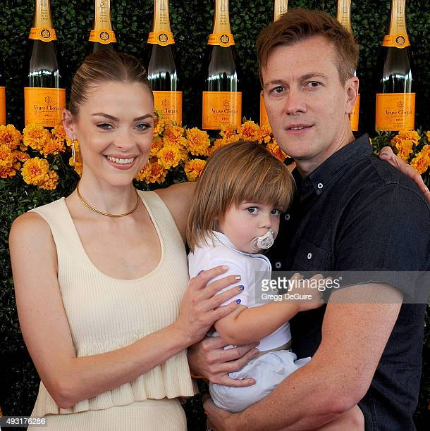 Actress Jaime King, husband Kyle Newman and son James Knight Newman arrive at the Sixth-Annual Veuve Clicquot Polo Classic, Los Angeles at Will...