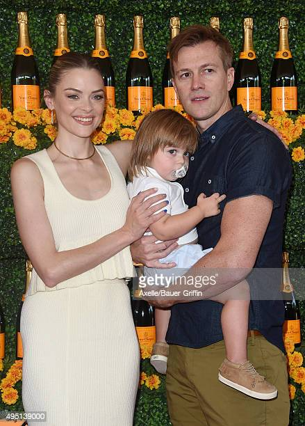 Actress Jaime King husband Kyle Newman and son James Knight Newman arrive at the SixthAnnual Veuve Clicquot Polo Classic Los Angeles at Will Rogers...
