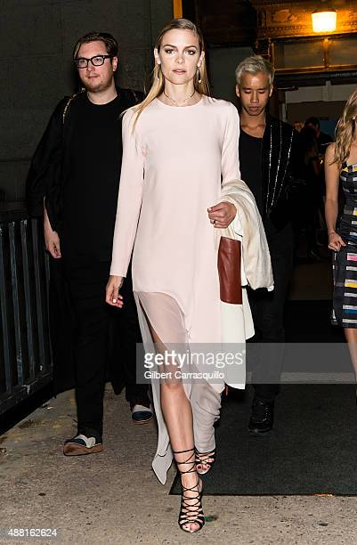 Actress Jaime King is seen arriving at Prabal Gurung fashion show during Spring 2016 New York Fashion Week on September 13 2015 in New York City