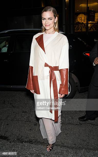 Actress Jaime King is seen arriving at Prabal Gurung fashion show during Spring 2016 New York Fashion Week on September 13 2015 in New York City
