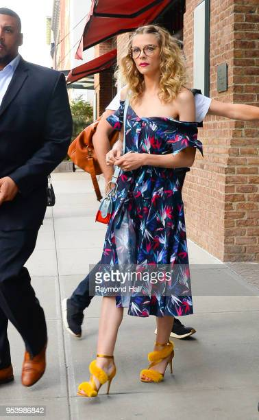 Actress Jaime King is seen walking in Soho on May 2 2018 in New York City