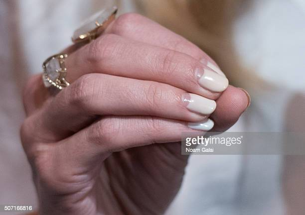 Actress Jaime King nail detail attends Target x Who What Wear launch party at ArtBeam on January 27 2016 in New York City