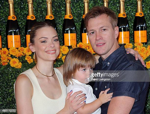 Actress Jaime King son James Knight Newman and husband Kyle Newman attend the SixthAnnual Veuve Clicquot Polo Classic Los Angeles at Will Rogers...