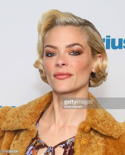 Actress Jaime King visits the SiriusXM Studios on April 12, 2019 in New York City.