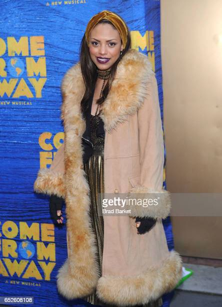 Actress Jaime Lee Kirchner attends the Come From Away Broadway Opening Night Arrivals Curtain Call at Gerald Schoenfeld Theatre on March 12 2017 in...