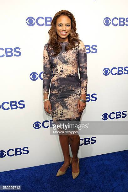 Actress Jaime Lee Kirchner of CBS television series Bull attends the 2016 CBS Upfront at Oak Room on May 18 2016 in New York City