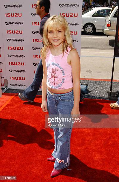 Actress Jaime Lynn Spears sister of singer Britney Spears attends the premiere of Spy Kids 2 The Island of Lost Dreams at Grauman's Chinese Theatre...