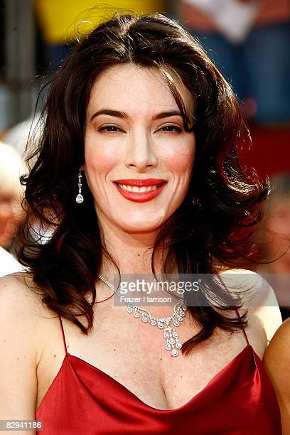 Actress Jaime Murray arrives at the 60th Primetime Emmy Awards held at Nokia Theatre on September 21 2008 in Los Angeles California
