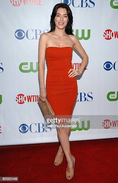 Actress Jaime Murray arrives at the CBS, CW and Showtime Press Tour Stars Party held at Boulevard 3 on July 18th, 2008 in Hollywood, California.