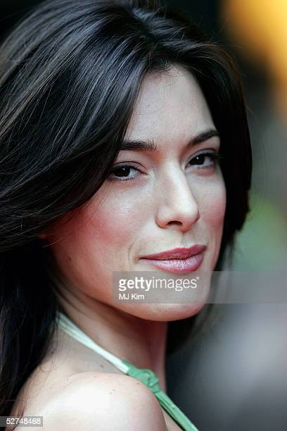 Actress Jaime Murray arrives at the European Premiere of Kingdom of Heaven at the Empire Leicester Square on May 2 2005 in London