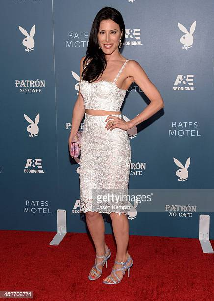 """Actress Jaime Murray arrives at the Playboy and AE """"Bates Motel"""" Event During ComicCon Weekend on July 25 2014 in San Diego California"""