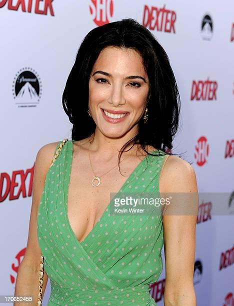 "Actress Jaime Murray arrives at the premiere screening of Showtime's ""Dexter"" Season 8 at Milk Studios on June 15, 2013 in Los Angeles, California."