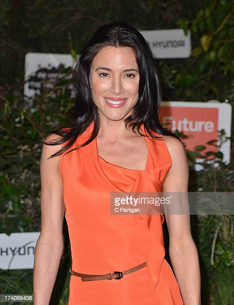 Actress Jaime Murray arrives at the The Walking Dead 10th Anniversary Celebration Event At ComicCon 2013 on July 19 2013 in San Diego California