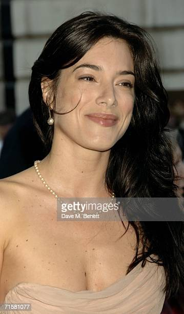 """Actress Jaime Murray arrives at the UK premiere of """"Volver,"""" at the Curzon Mayfair on August 3, 2006 in London, England."""