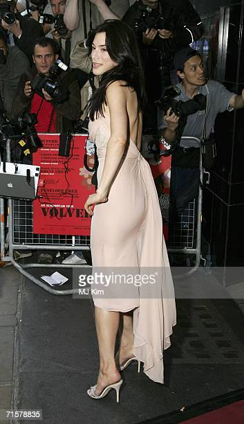 Actress Jaime Murray arrives at the UK premiere of Volver held at the Curzon Mayfair on August 3 2006 in London England