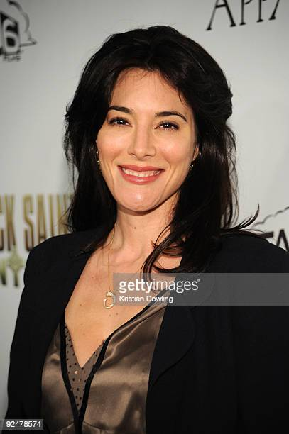 Actress Jaime Murray arrives for the Premiere of The Boondock Saints II All Saints Day at Arclight Cinemas on October 28 2009 in Los Angeles...