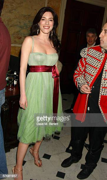 Actress Jaime Murray attend the MAC VIVA GLAM V party launching MAC Cosmetics' latest charity lipstick at Home House on April 21, 2005 in London. All...
